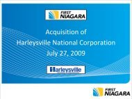 Acquisition of Harleysville National Corporation July ... - SNL Financial