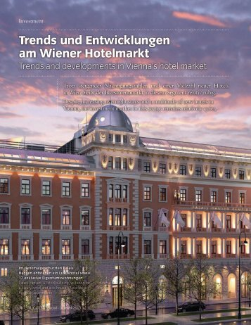 Trends und Entwicklungen am Wiener Hotelmarkt - MRP hotels