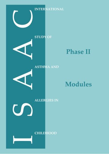 Phase Two Manual - The International Study of Asthma and ...