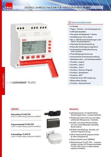   LUXOMAT® TS-DY2 B.E.G. LUXOMA DIgItale Jahresschaltuhr für ...