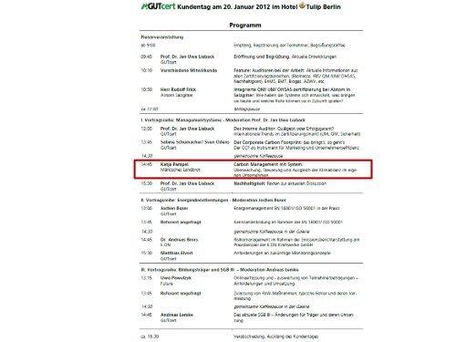 GUTcert Kundentag – 20. Januar 2012 – Katja Pampel - Märkisches ...