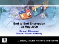 End to End Encryption 28 May 2009 - Visa Asia Pacific