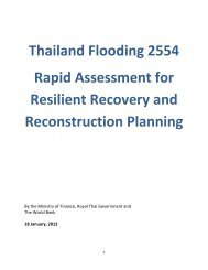 Thailand Flooding 2554 Rapid Assessment for Resilient Recovery ...