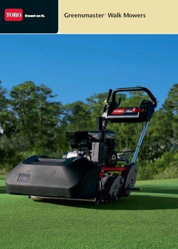 Greensmaster® Walk Mowers - Toro Media