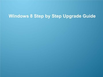 Windows 8 Upgrade Step by Step Guide - Samsung