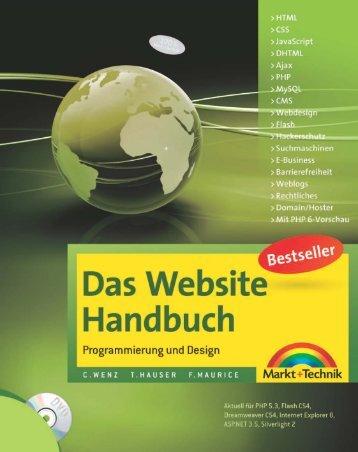 Das Website Handbuch  - *ISBN 978-3-8272-4465-9 ...