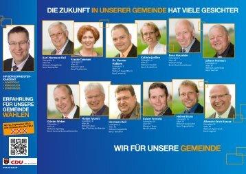 Wir für unsere gemeinde - CDU Gemeindeverband Apen-Augustfehn