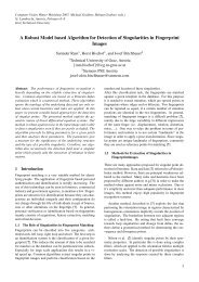 A Robust Model based Algorithm for Detection of Singularities in ...