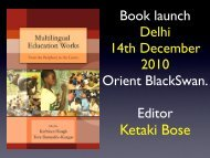 List of contents with author pictures, from Book Launch in Delhi