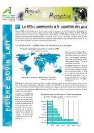 FILIERE BOVIN LAIT - Chambre d'Agriculture de la Dordogne