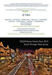 NCJW/Essex House Tour 2013 South Orange, New Jersey