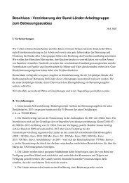 Beschluss / Vereinbarung der BundLänderArbeitsgruppe zum ...