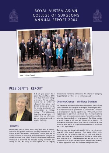 2004 Annual Report - Royal Australasian College of Surgeons