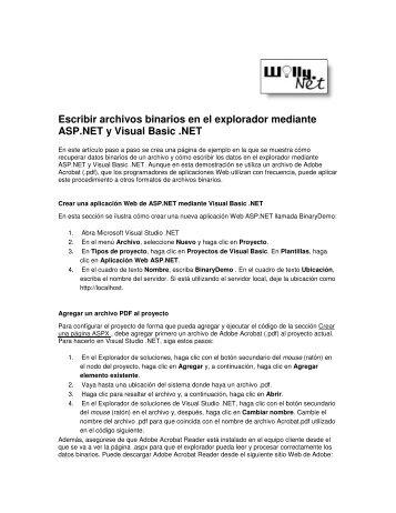 Escribir archivos binarios en el explorador mediante ASP ... - Willy .Net