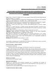 avviso pubblico di procedura comparativa per il conferimento di un ...
