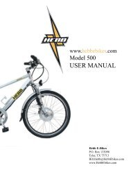 Model 500 User Manual - Bicycle Center of Seattle