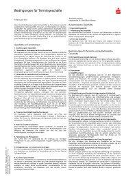 Bedingungen fŁr TermingeschŁte - Sparkasse Holstein