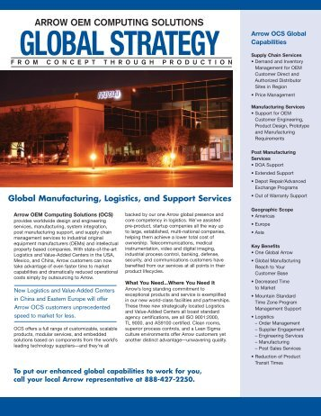 Global Integrated Capabilities - Arrow Electronics
