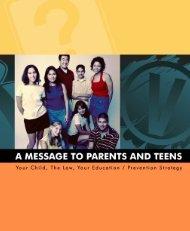 Parent/Teen Handbook - City of Scottsdale