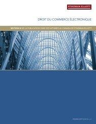 DROIT DU COMMERCE ÉLECTRONIQUE - Stikeman Elliott