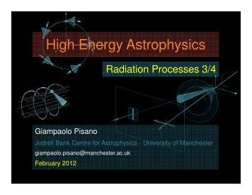 High Energy Astrophysics - Jodrell Bank Centre for Astrophysics
