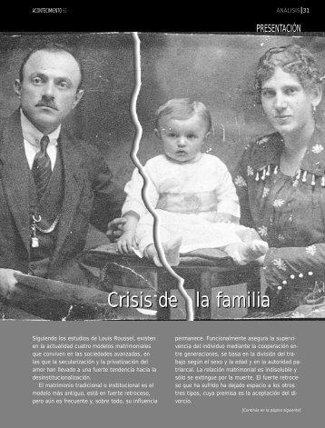 Crisis de la familia