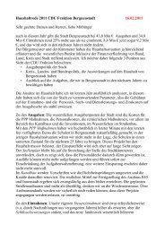 Haushaltsrede der Cdu-Fraktion - CDU Bergneustadt