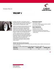VULCAN® J - Cabot Corporation