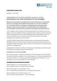 PRESSEINFORMATION Entscheidung in der Copa ... - Sportdigital