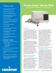 Power Hawktm Series 900 - Concurrent Computer Corporation