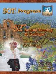 Program Program Program - Society of Toxicology