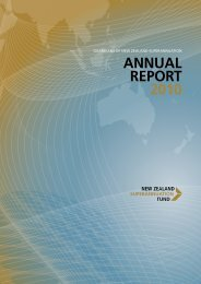 ANNUAL REPORT 2010 - the New Zealand Superannuation Fund