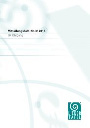 Heft 3 - 2013 - Basler Liedertafel