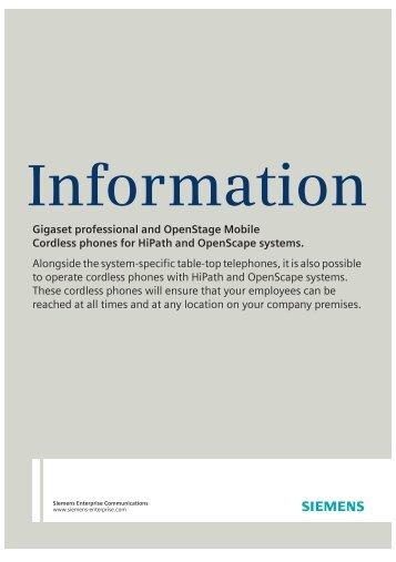 Gigaset S4 professional handset - Siemens Enterprise - Siemens ...