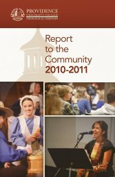 Report to the Community 2010-2011 - Providence College and ...