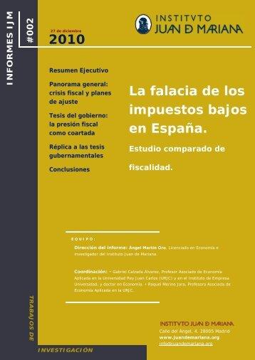 La falacia de los impuestos bajos en - Instituto Juan de Mariana