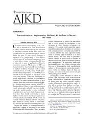 EDITORIALS Contrast-Induced Nephropathy: We Need All the Data ...
