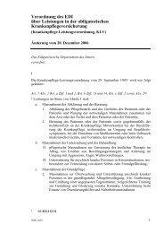 Verordnung des EDI über Leistungen in der ... - Spitex Luzern
