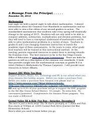 Principal's Message November 30, 2012 - Del Mar Union School ...