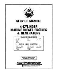 4-cylinder marine diesel engines & generators - Westerbeke
