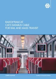 RADOX RailCat CAT5 Databus cable for rail and mass ... - Composites