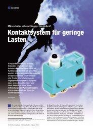Kontaktsystem für geringe Lasten - Panasonic Electric Works ...