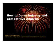 How to Do an Industry and Competitive Analysis