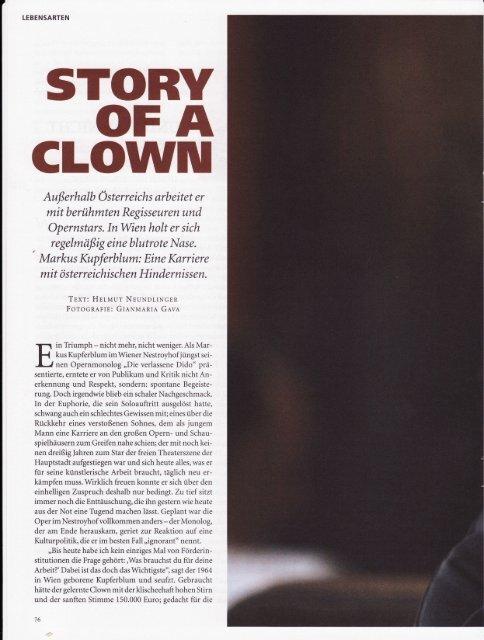 Story of a Clown, Datum, Juli 2007