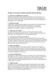 10 Tipps, wie Sie einen verdammt schlechten Roman schreiben: