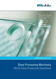 Glass Processing Machinery - Bohle AG
