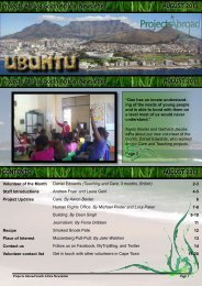 Projects Abroad South African Newsletter AUGUST 2011 Projects ...