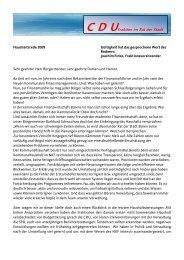 C D Ufraktion im Rat der Stadt - CDU Büren