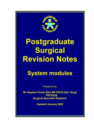 systemic Revision notes FRCS.pdf - SASSiT