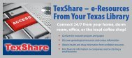 TexShare Databases E-Resources Handout - Texas State Library ...